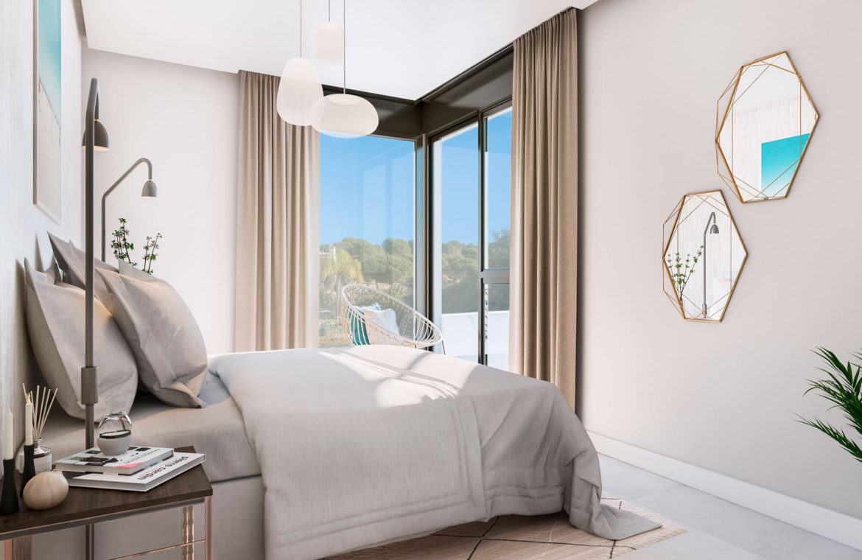 artola homes cabopino costa del sol eerstelijns golf appartement penthouse te koop nieuwbouw zee slaapkamer