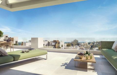 Artola Homes: moderne eerstelijns golf penthouses (Cabopino)