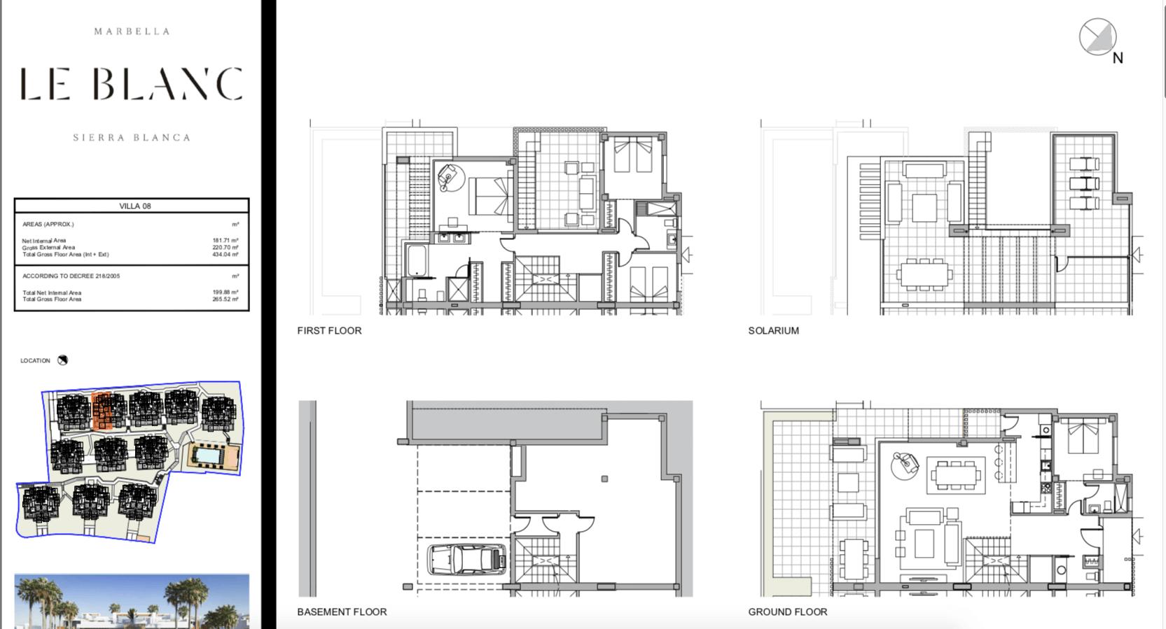 le blanc marbella sierra blanca exclusief spanje design villa te koop luxe grondplan