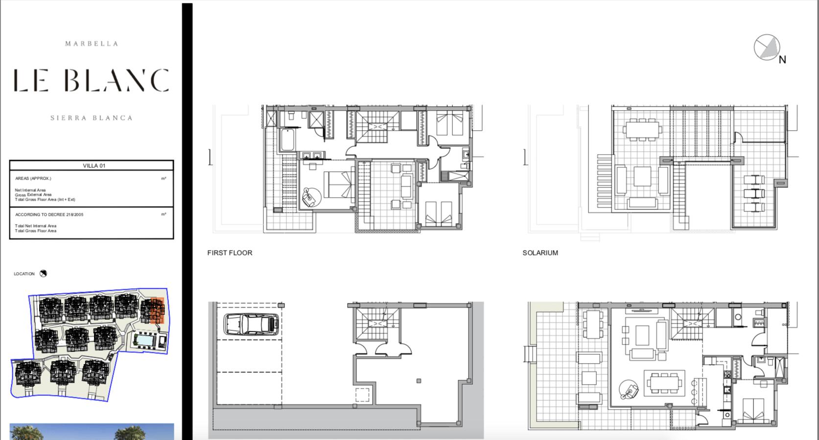 le blanc marbella sierra blanca exclusief spanje design villa te koop luxe grondplan1