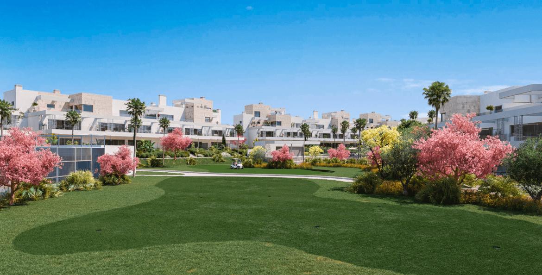 palm village new golden mile cancelada estepona marbella appartement penthouse te koop nieuwbouw wandelafstand zee restaurant golf