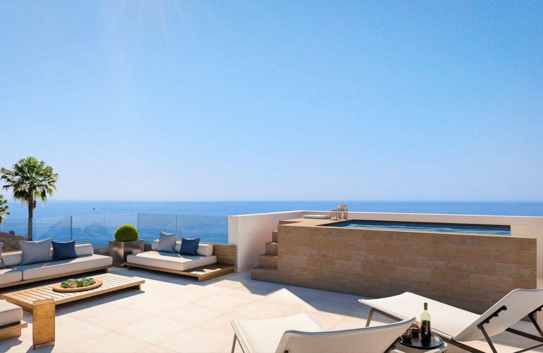 middel views fuengirola costa del sol spanje appartement kopen zeezicht wandelafstand strand golf ingericht solarium