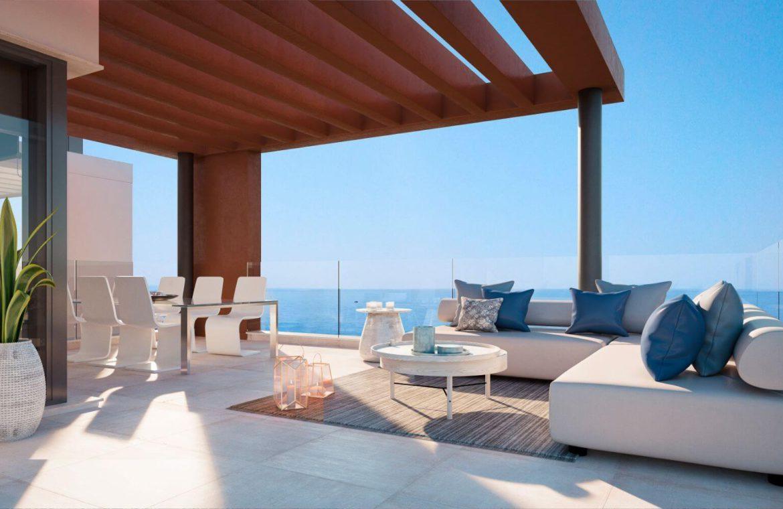 middel views fuengirola costa del sol spanje appartement kopen zeezicht wandelafstand strand golf lounge
