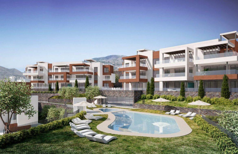 middel views fuengirola costa del sol spanje appartement kopen zeezicht wandelafstand strand golf modern