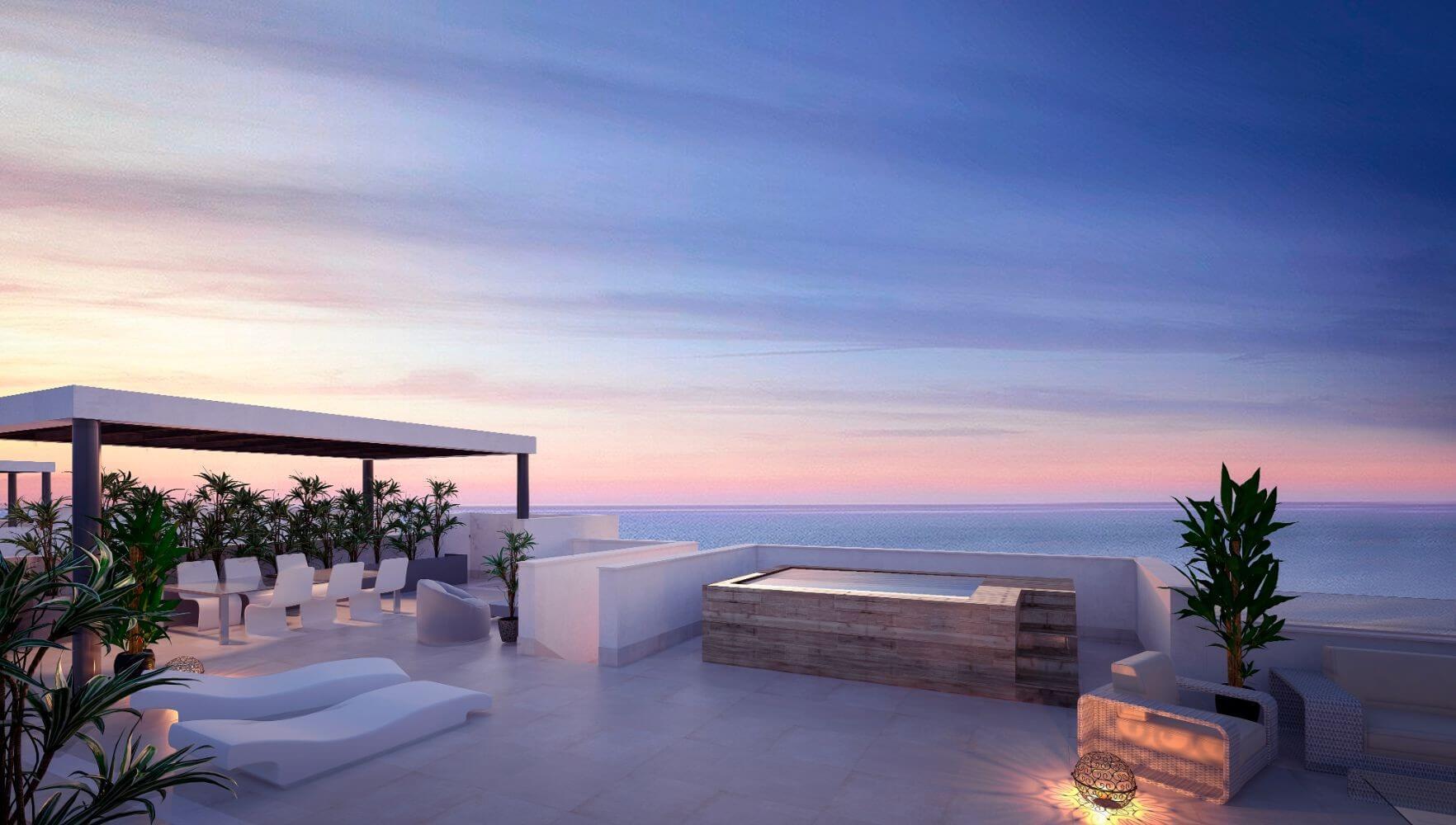 middel views fuengirola costa del sol spanje appartement kopen zeezicht wandelafstand strand golf prive zwembad