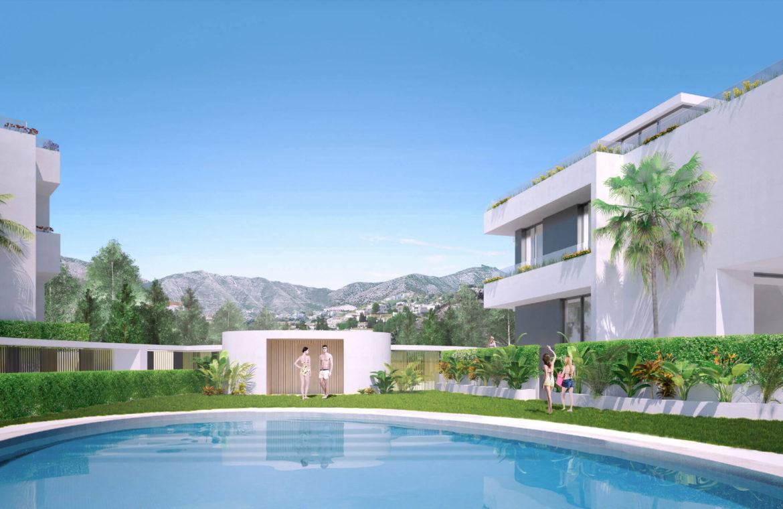 oak 47 fuengirola huis te koop costa del sol spanje modern design wandelafstand zee golf tuin
