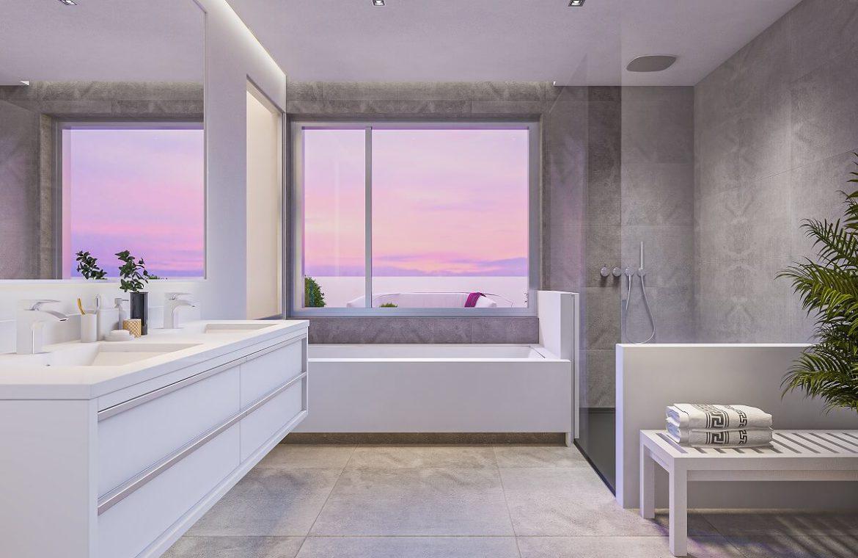 one heights cala de mijas calanova golf resort appartement kopen costa del sol spanje zeezicht badkamer