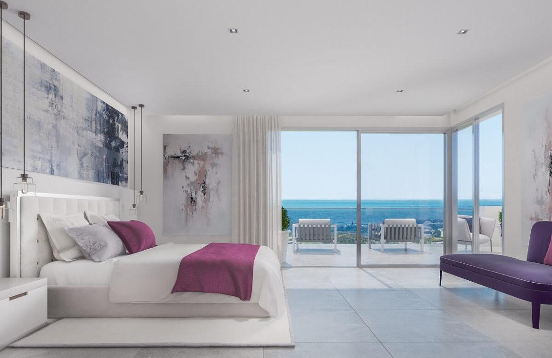 one heights cala de mijas calanova golf resort appartement kopen costa del sol spanje zeezicht slaapkamer