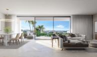 soul marbella sunset santa clara golf costa del sol appartement penthouse te koop spanje modern zeezicht leefruimte