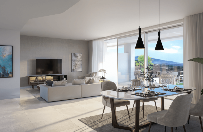 soul marbella sunset santa clara golf costa del sol appartement penthouse te koop spanje modern zeezicht living