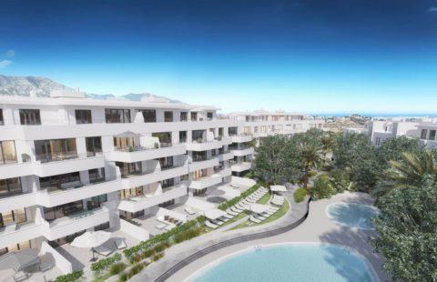 Vista: modern nieuwbouwproject in urbanisatie Loma de Flamenco in Mijas