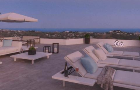 Vista: moderne penthouses met zeezicht in Loma de Flamenco in Mijas