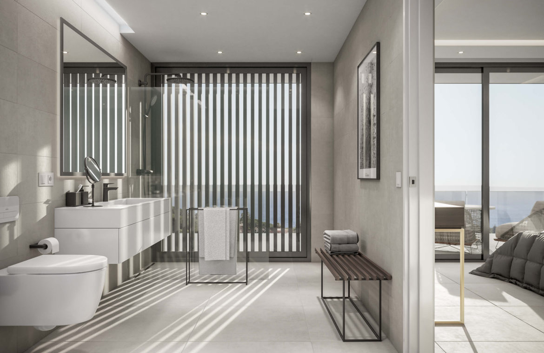 oceanica villa kopen spanje costa del sol elviria marbella nieuwbouw zeezicht badkamer