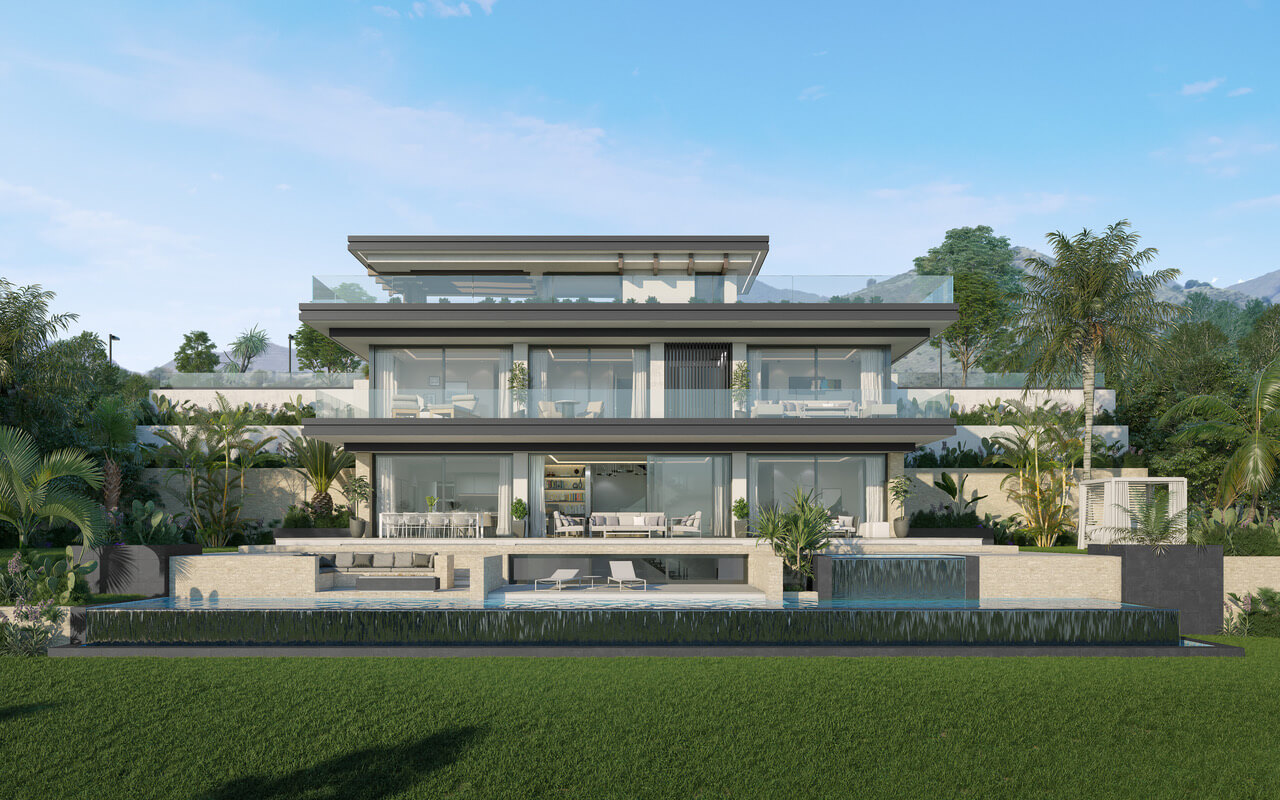 oceanica villa kopen spanje costa del sol elviria marbella nieuwbouw zeezicht design