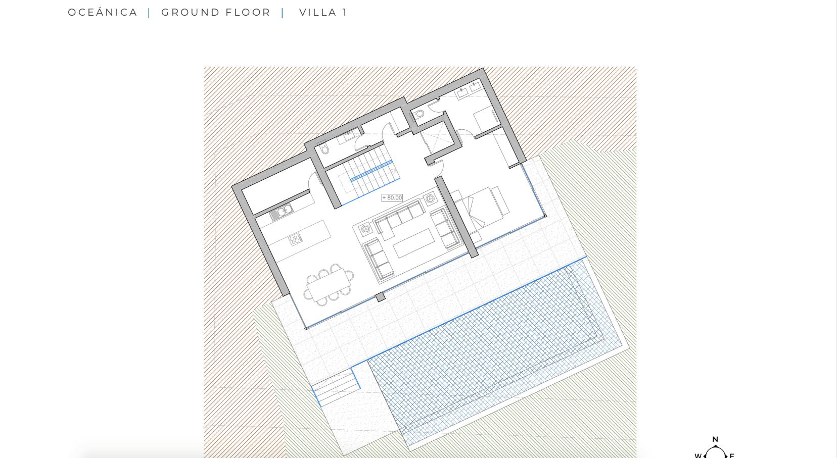 oceanica villa kopen spanje costa del sol elviria marbella nieuwbouw zeezicht grondplan gelijkvloers