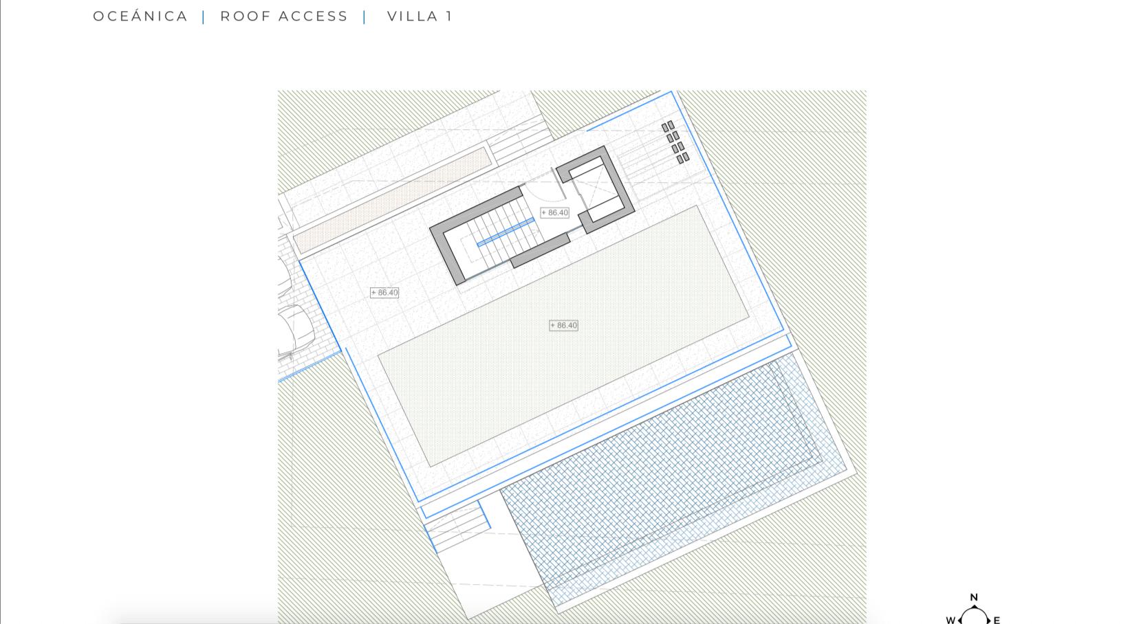 oceanica villa kopen spanje costa del sol elviria marbella nieuwbouw zeezicht grondplan solarium