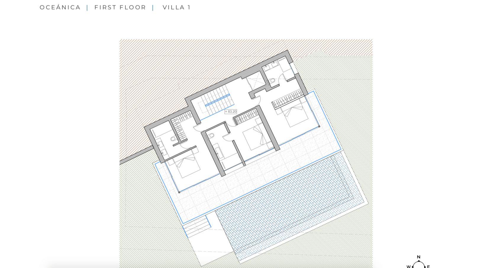 oceanica villa kopen spanje costa del sol elviria marbella nieuwbouw zeezicht grondplan verdieping
