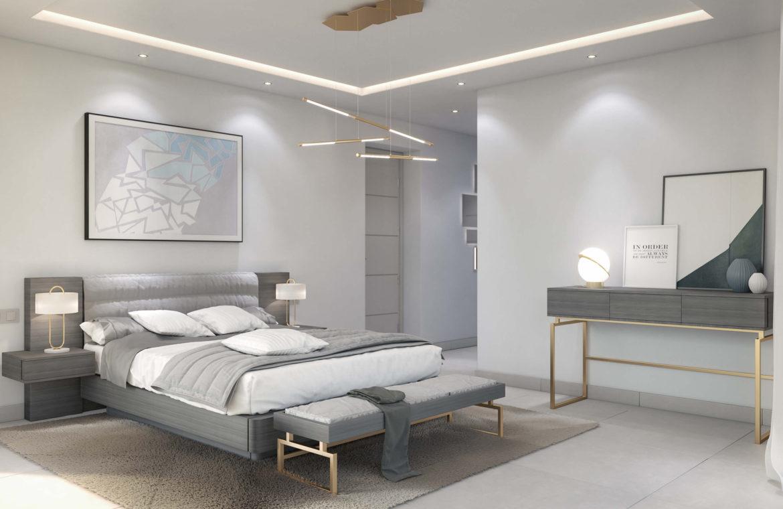 oceanica villa kopen spanje costa del sol elviria marbella nieuwbouw zeezicht slaapkamer