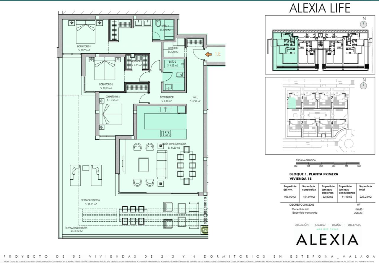 alexia life las mesas estepona costa del sol spanje appartement kopen nieuwbouw zeezicht grondplan 3 slaapkamers