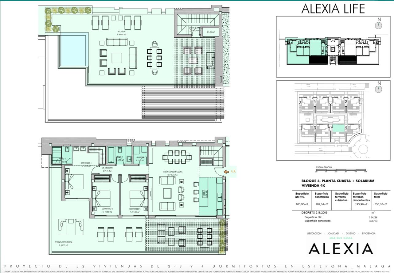 alexia life las mesas estepona costa del sol spanje appartement kopen nieuwbouw zeezicht grondplan penthouse