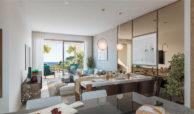 elite la cala golf appartement penthouse huis te koop costa del sol spanje zeezicht salon