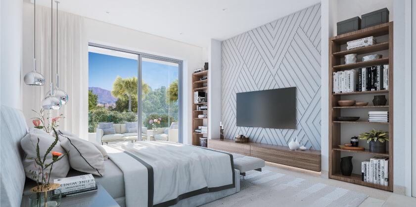elite la cala golf appartement penthouse huis te koop costa del sol spanje zeezicht slaapkamer