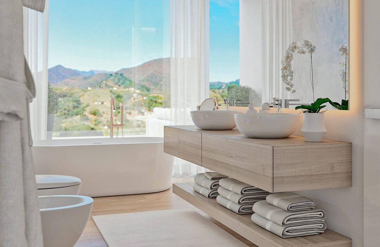 elysium golf villa te koop mijas la cala golfbaan resort nieuwbouw spanje costa del sol badkamer