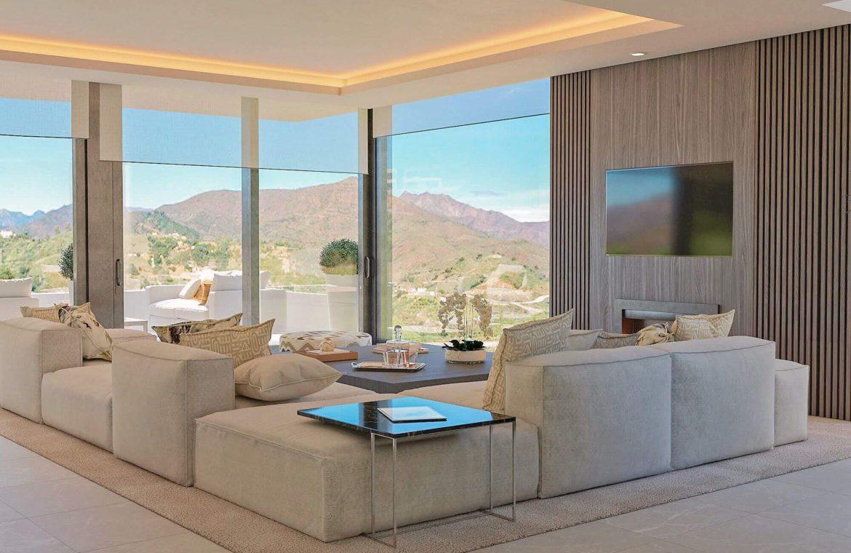 elysium golf villa te koop mijas la cala golfbaan resort nieuwbouw spanje costa del sol living
