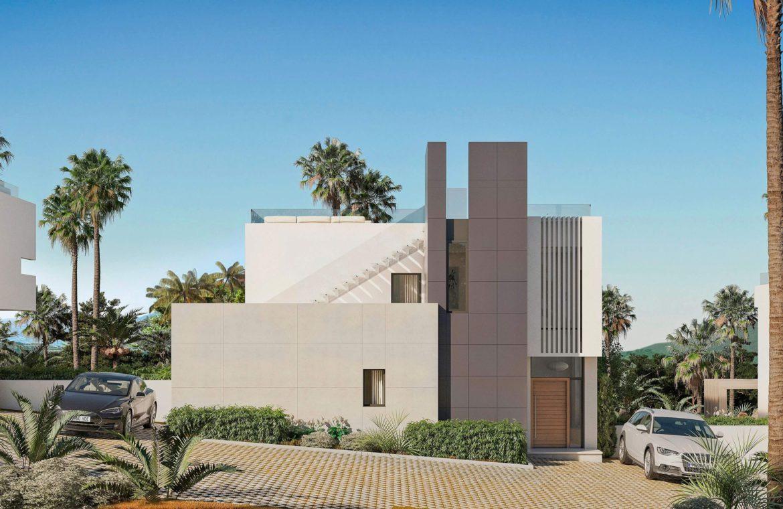 elysium golf villa te koop mijas la cala golfbaan resort nieuwbouw spanje costa del sol parking