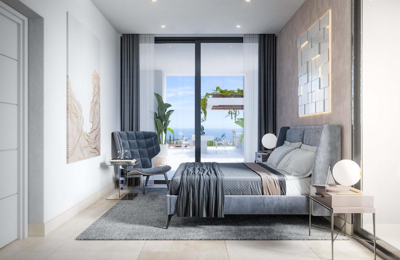 new heights nieuwbouw eerstelijns golf villa kopen new golden mile selwo estepona la resina costa del sol spanje slaapkamer