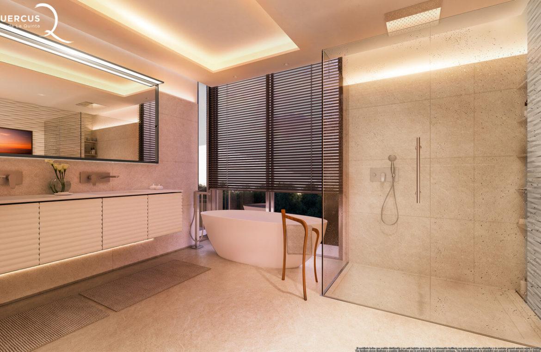 quercus real de la quinta nueva andalucia costa del sol spanje resort golf appartement penthouse te koop nieuwbouw zeezicht badkamer