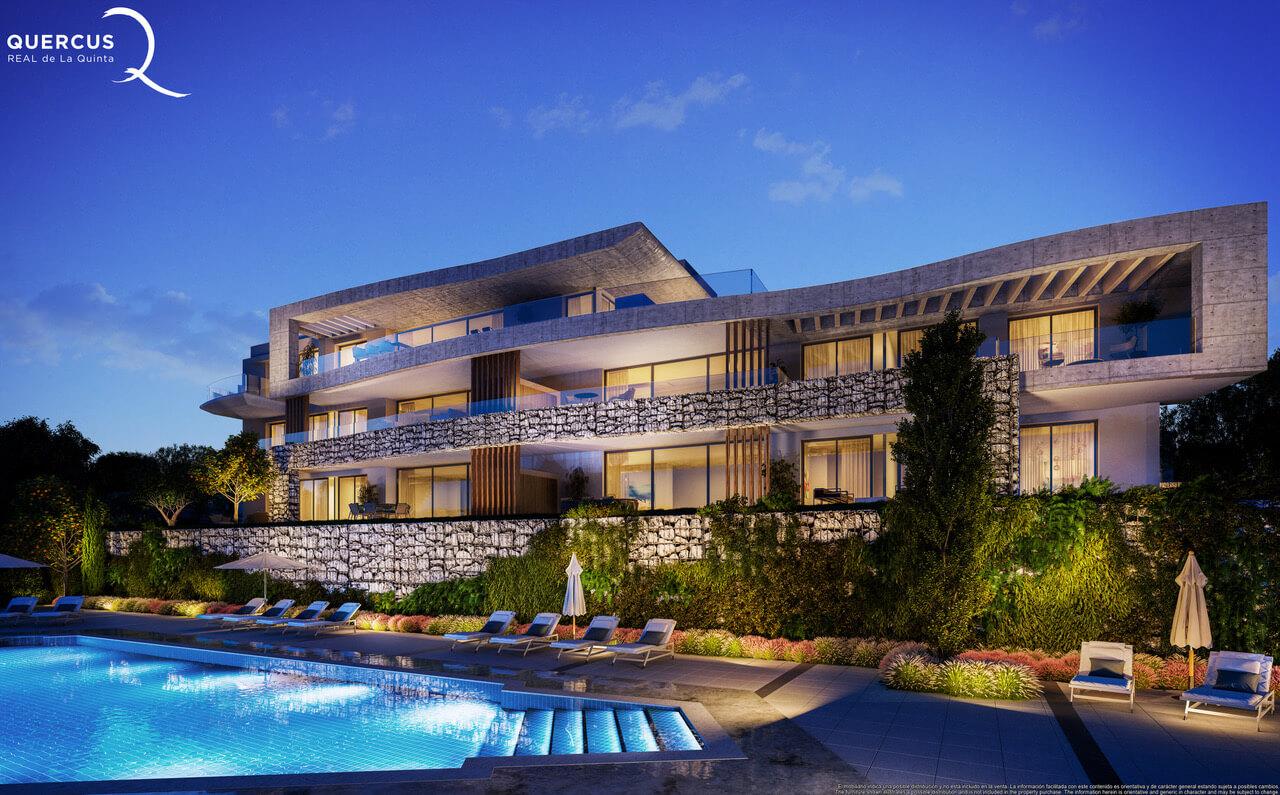 quercus real de la quinta nueva andalucia costa del sol spanje resort golf appartement penthouse te koop nieuwbouw zeezicht design
