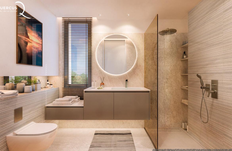 quercus real de la quinta nueva andalucia costa del sol spanje resort golf appartement penthouse te koop nieuwbouw zeezicht douche