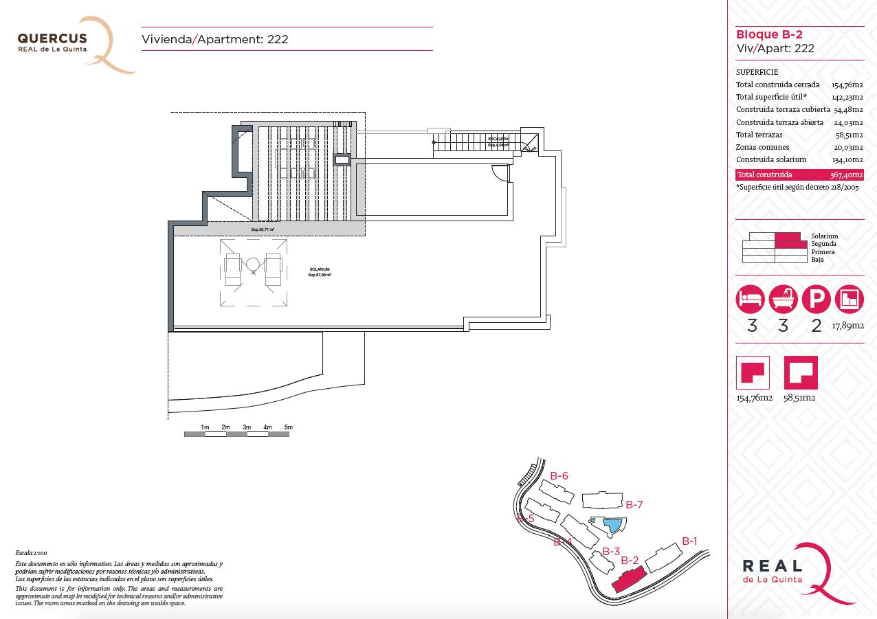 quercus real de la quinta nueva andalucia costa del sol spanje resort golf appartement penthouse te koop nieuwbouw zeezicht grondplan 222 solarium