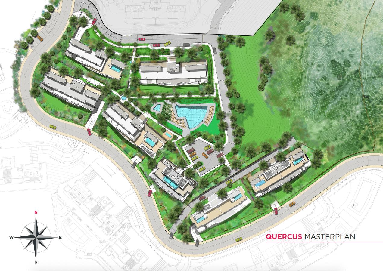 quercus real de la quinta nueva andalucia costa del sol spanje resort golf appartement penthouse te koop nieuwbouw zeezicht masterplan project