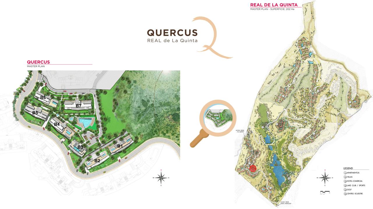 quercus real de la quinta nueva andalucia costa del sol spanje resort golf appartement penthouse te koop nieuwbouw zeezicht masterplan