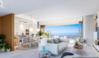 quercus real de la quinta nueva andalucia costa del sol spanje resort golf appartement penthouse te koop nieuwbouw zeezicht salon