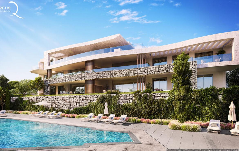 quercus real de la quinta nueva andalucia costa del sol spanje resort golf appartement penthouse te koop nieuwbouw zeezicht zwembad