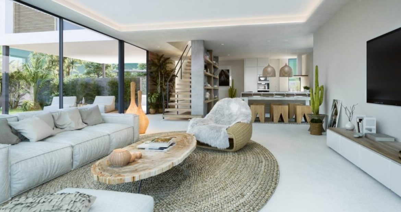 sanctuary villas el campanario golf new golden mile estepona costa del sol spanje villa kopen nieuwbouw living