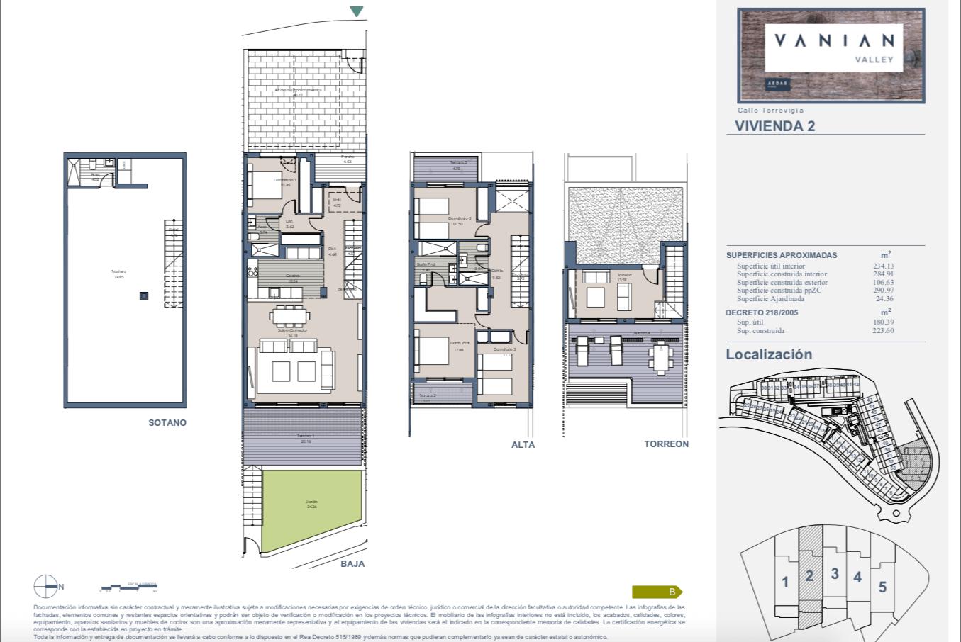 vanian valley new golden mile estepona costa del sol huis kopen townhouse modern nieuwbouw grondplan