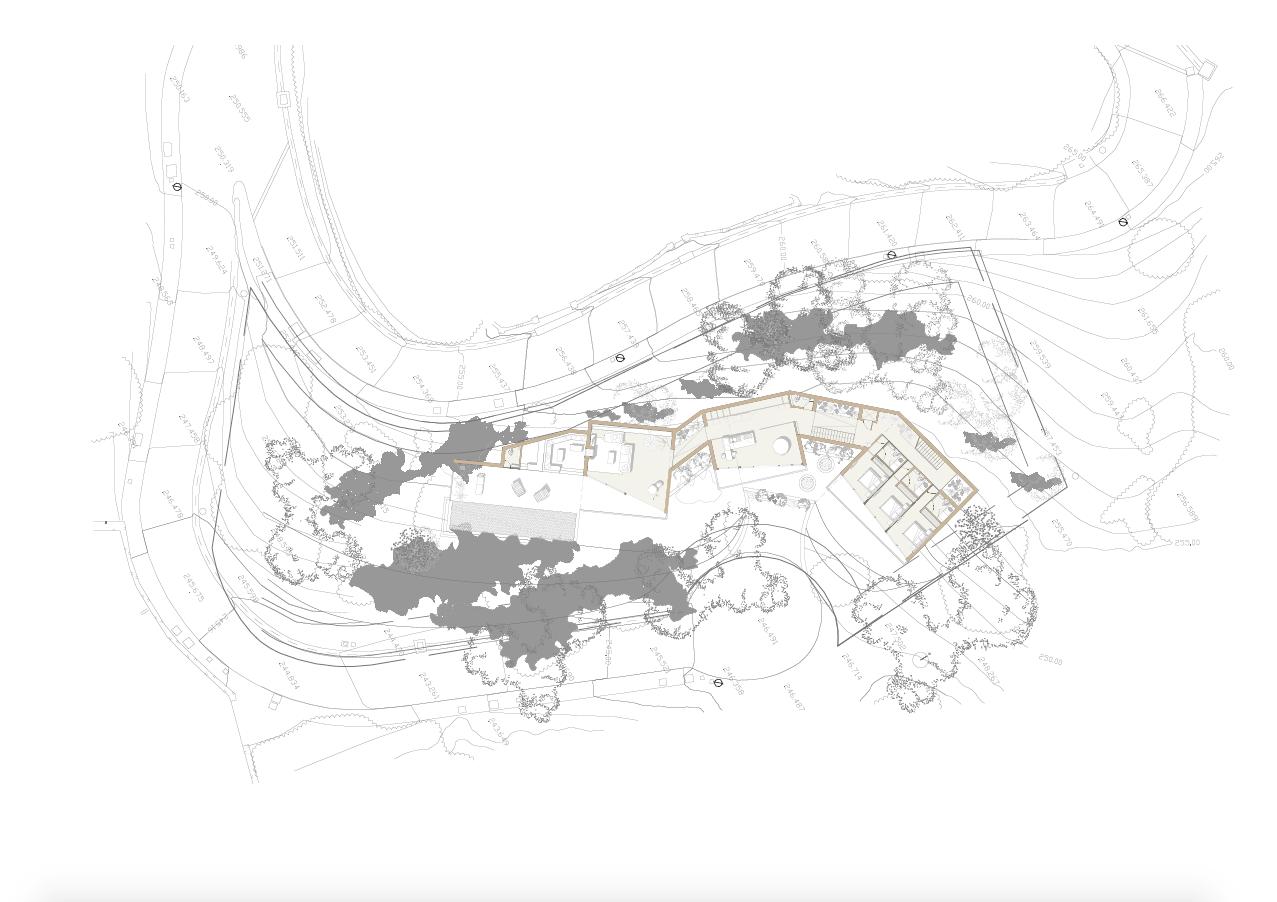 vitae villas exclusieve design nieuwbouw villa te koop rustige omgeving monte mayor benahavis costa del sol zeezicht modern bergen grondplan 1