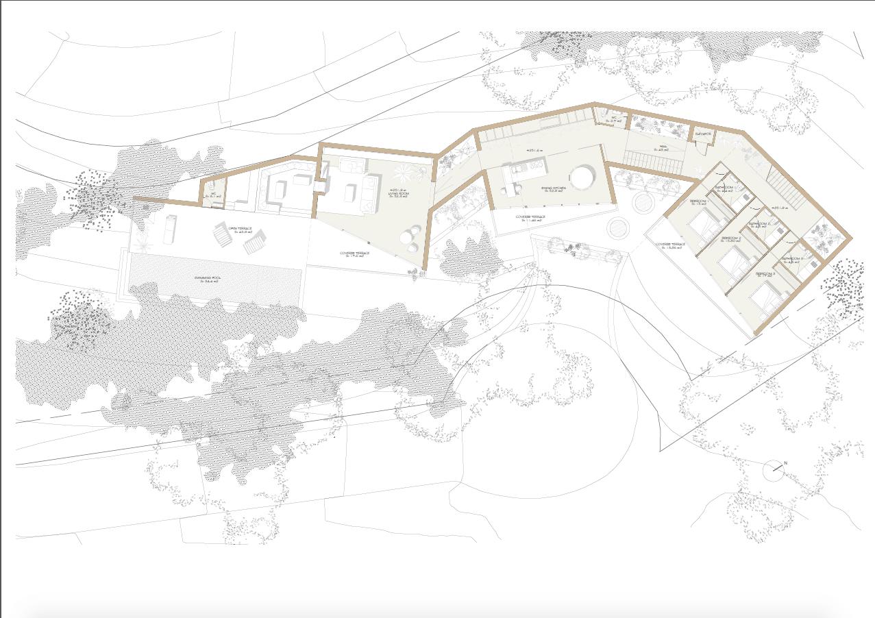 vitae villas exclusieve design nieuwbouw villa te koop rustige omgeving monte mayor benahavis costa del sol zeezicht modern bergen grondplan 3