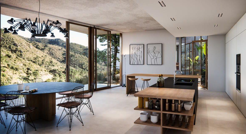 vitae villas exclusieve design nieuwbouw villa te koop rustige omgeving monte mayor benahavis costa del sol zeezicht modern keuken