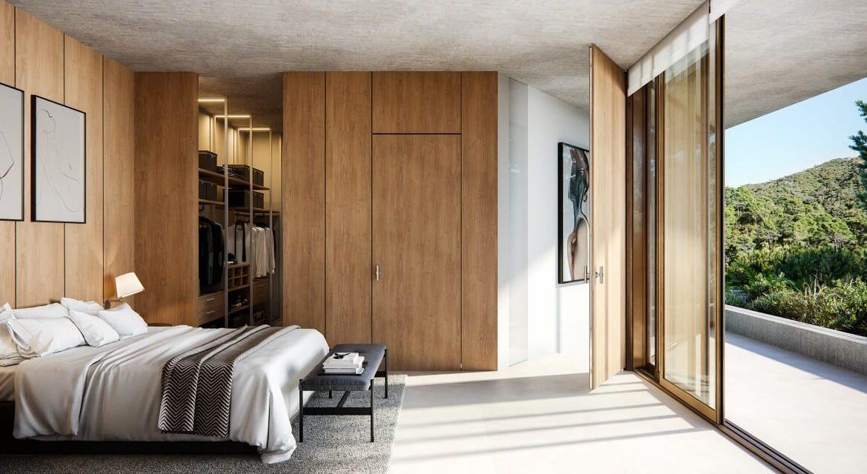 vitae villas exclusieve design nieuwbouw villa te koop rustige omgeving monte mayor benahavis costa del sol zeezicht modern slaapkamer