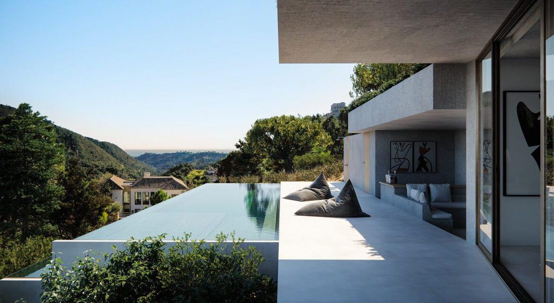 vitae villas exclusieve design nieuwbouw villa te koop rustige omgeving monte mayor benahavis costa del sol zeezicht modern terras
