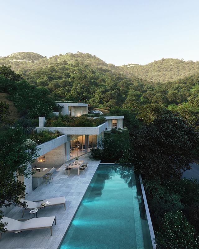 vitae villas exclusieve design nieuwbouw villa te koop rustige omgeving monte mayor benahavis costa del sol zeezicht zwembad