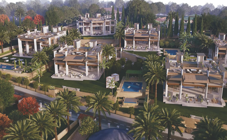los palacetes de puerto banus marbella costa del sol spanje nieuwbouw villa kopen zeezicht masterplan