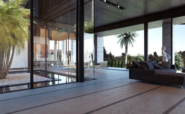 los palacetes de puerto banus marbella costa del sol spanje nieuwbouw villa kopen zeezicht salon