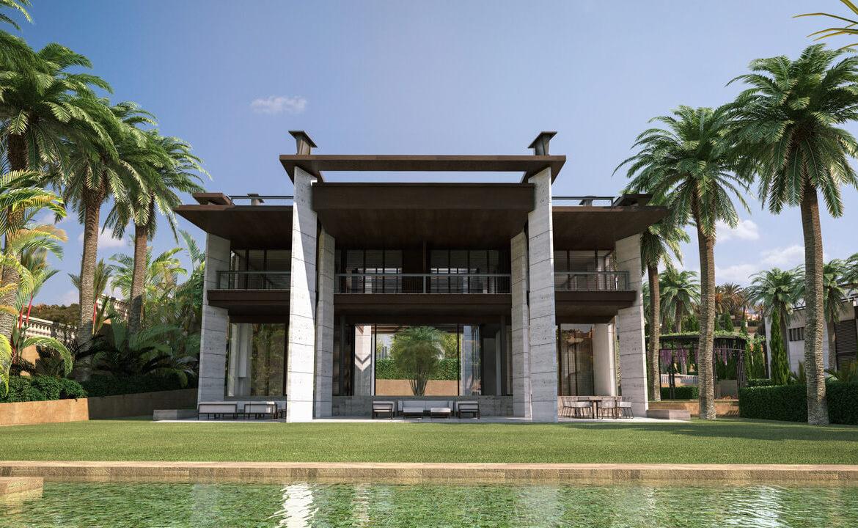 los palacetes de puerto banus marbella costa del sol spanje nieuwbouw villa kopen zeezicht tuin