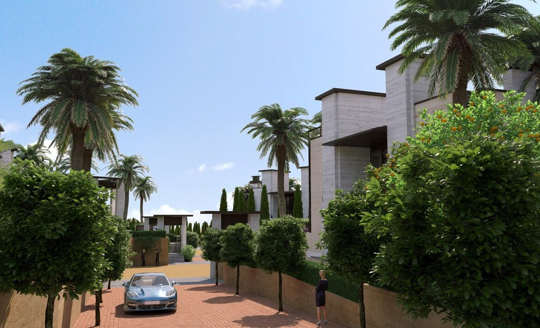 los palacetes de puerto banus marbella costa del sol spanje nieuwbouw villa kopen zeezicht zee
